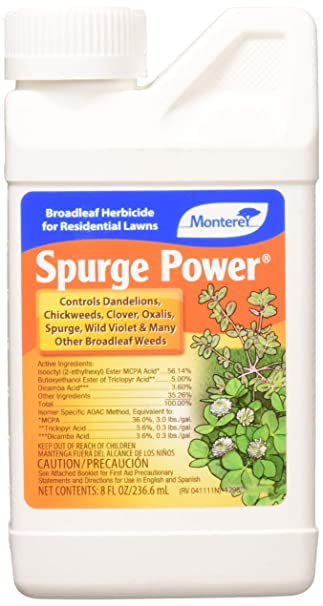 Amazon.com : Lawn & Garden Products LG 5588 LG5588 Monterey Spurge Power Broadleaf Weed Kill, 8 oz. : Garden & Outdoor