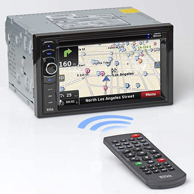 Amazon.com: BOSS Audio Systems BV9386NV Car GPS Navigation - Double Din,  Bluetooth Audio and Hands-Free Calling, 6.2 Inch Touchscreen LCD, MP3, CD,  DVD Player, USB, SD, AUX-A/V Inputs, AM/FM Radio Receiver: CarAmazon.com