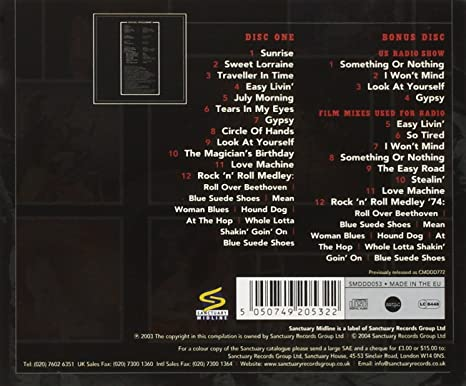 Uriah Heep Live 73 Amazon Com Music
