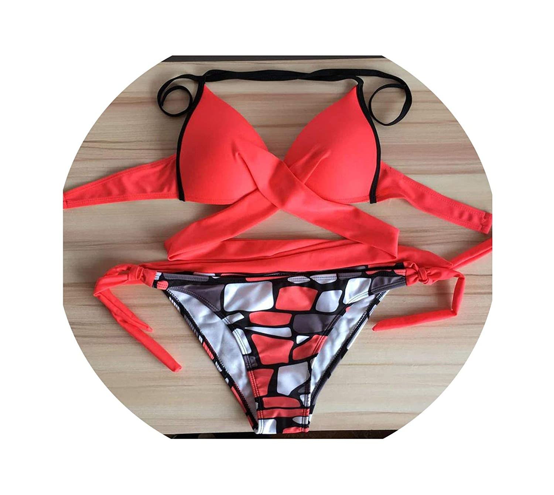 Sexy Lady Bikini Halter Bikinis Push Up Swimwear Women Plus Size Bathing Suit Swimsuit Swim Wear