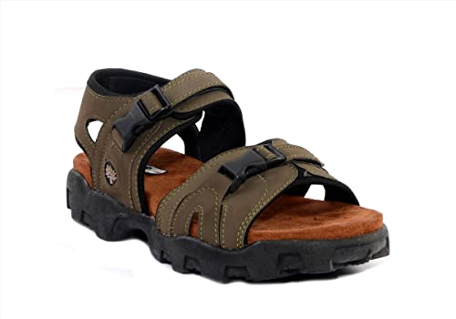 4c77891af49 Binutop Mehndi Green Sports Men sandals (UK 8)  Buy Online at Low ...