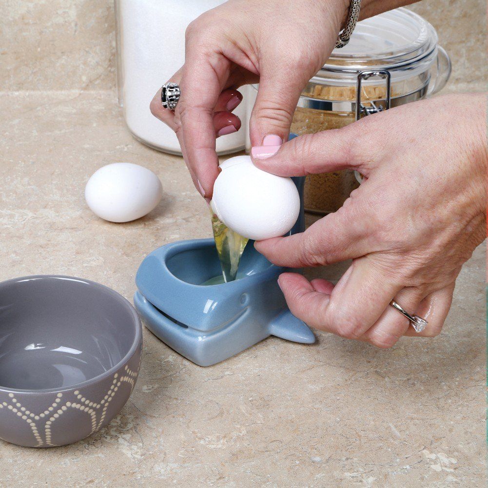 Stoneware Whale Shaped Ceramic Egg Separator by WHAT ON EARTH (Image #3)