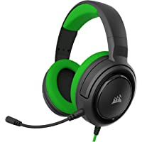 Headset Gamer Corsair HS35 P2 Stereo 2.0 Para PC, Mac, Xbox One, PS4, Switch, iOS e Android - Preto e Verde CA-9011197…