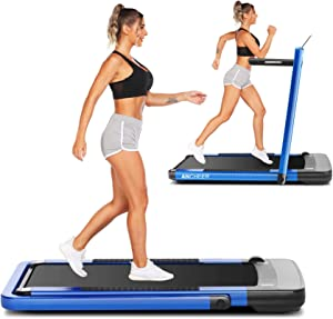 ANCHEER Treadmill,Folding Treadmill for Home,Electric 2-in-1 Under-Desk Treadmill with App & Remote Control, LED Display, Indoor Walking Running Exercise Machine Simple Assemble