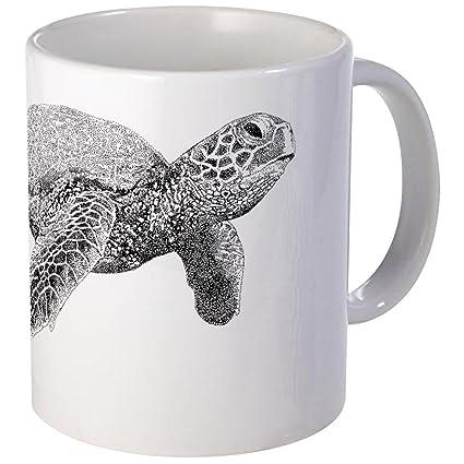 532fdcc7441 Amazon.com: CafePress Green Sea Turtle Mug Unique Coffee Mug, Coffee ...