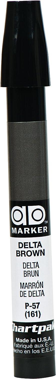 The Original Chartpak AD Marker, Tri-Nib, Delta Brown, 1 Each (P57)