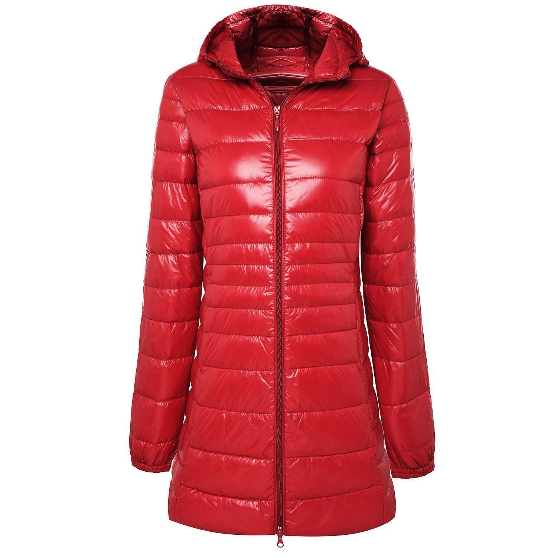 Josherly Long Winter Warm Coat Women Ultra Light 90% White Down Jacket Womens