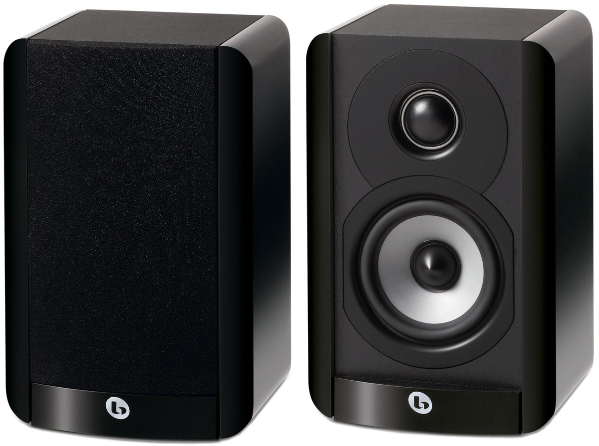 Boston Acoustics A 23 Compact Two-Way 3.5-Inch Woofer Bookshelf/Satellite Speaker (Each, Gloss Black)