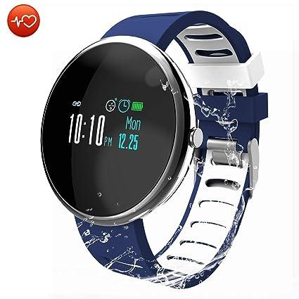 CatShin Pulsera Actividad Smartwatch Inteligente-CS06 Pulsera Deportiva Hombre Mujer Impermeable Reloj Inteligente con Pulsómetro