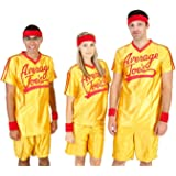 Add Your Text and Number Custom Personalized Dodgeball Average Joe's Adult Yellow Jersey Costume Set