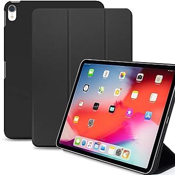 KHOMO iPad Pro 11 Funda Negra Dual Ultra Delgada y Ligera con Smart Cover Protección Delantera y Trasera para Nuevo Apple iPad Pro 11-2018 - Negro
