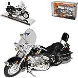 harley Davidson 2000 Flstc Heritage Softail Classic Schwarz 1/18 Maisto Modellmotorrad Modell Motorrad