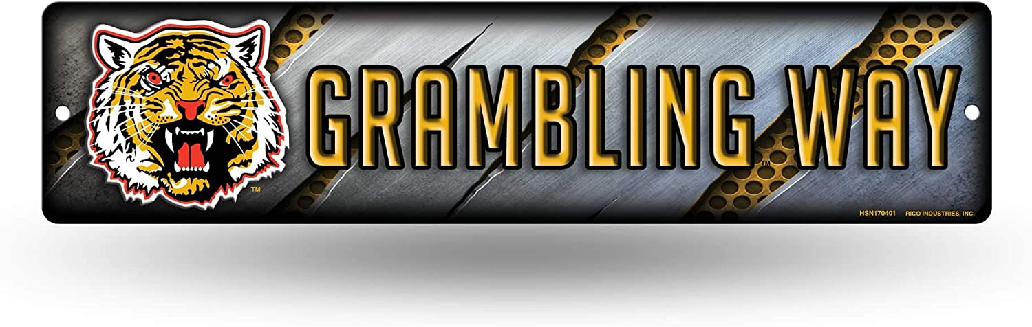 NCAA Rico Industries 16-Inch Plastic Street Sign Décor, Grambling State Tigers
