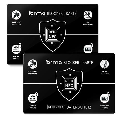 RFID Blocker - Tarjeta de Seguridad NFC (2 Unidades) para ...