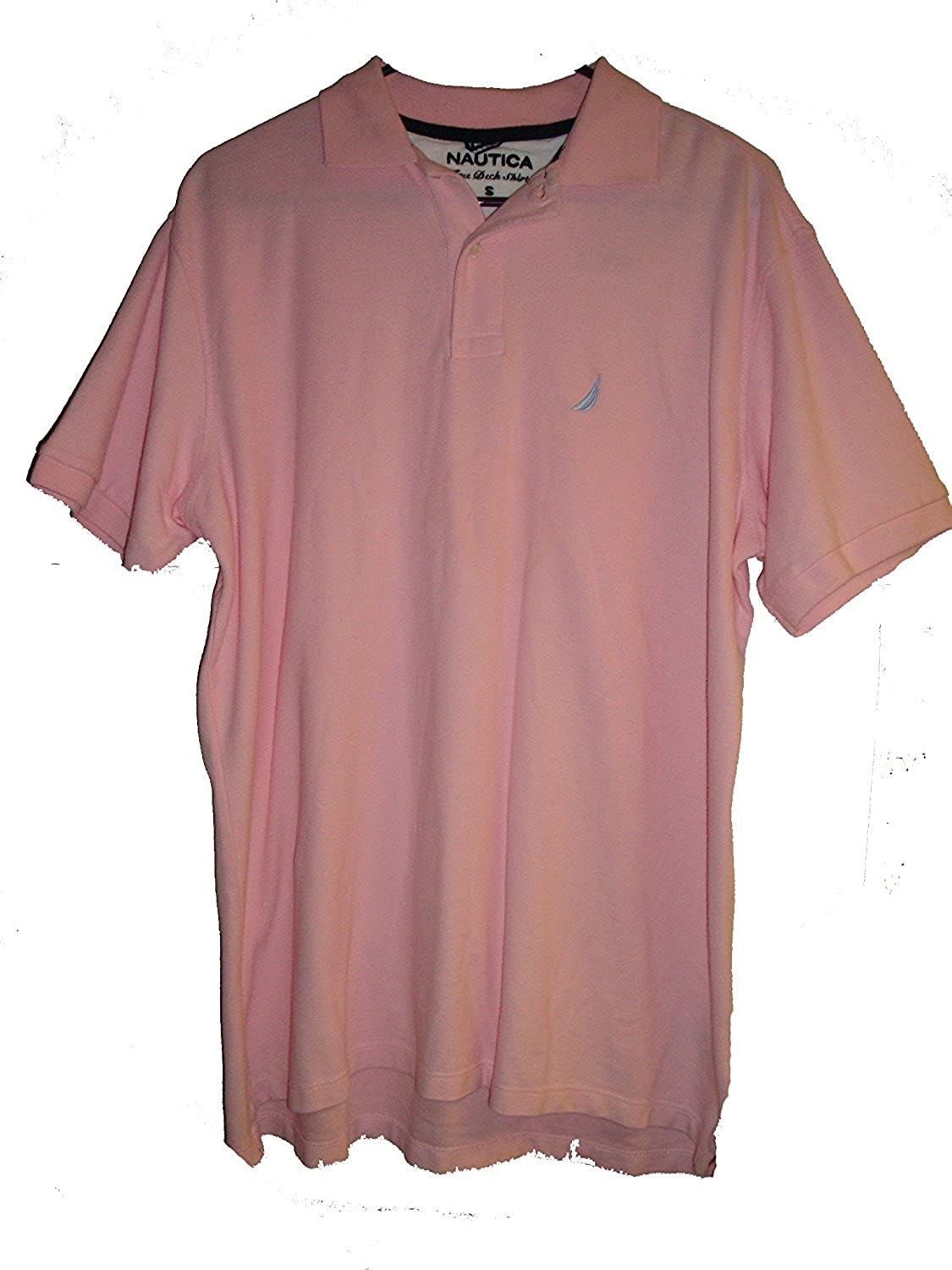 Nautica Mens True Deck Solid Polo Shirt Small Orchid Pink At