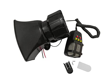 Alarm Police Fire Loud Speaker 100W 12V Car Truck 7 Sound Siren Air Horn MIC Kit Parts & Accessories
