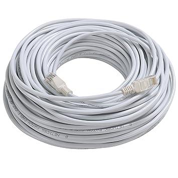 TRIXES 50M de Cable de Conexión Red LAN Ethernet CAT5e RJ45