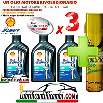 oferta Shell Advance Ultra 4T 10W40 smma-2 litros nueva fórmula PUREPLUS Shell Advance