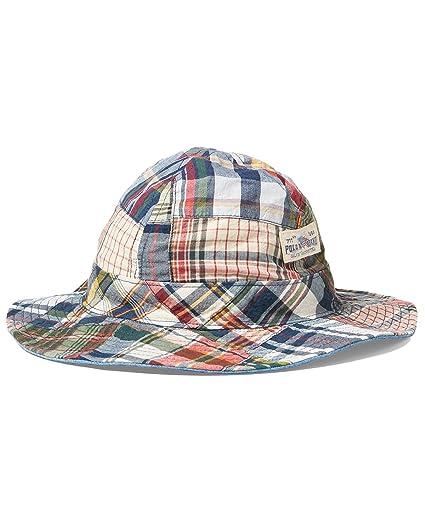Polo Ralph Lauren Men`s Reversible Cotton Bucket Hat (Patchwork (6001)   73132b84291c