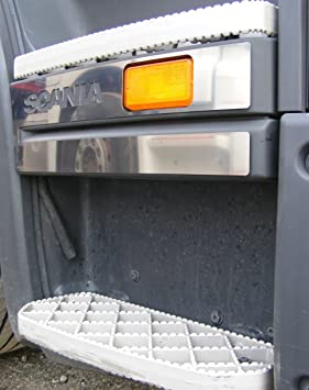 2 x exclusivo acero inoxidable estribo paso puerta decoración para Camiones Scania R: Amazon.es: Coche y moto