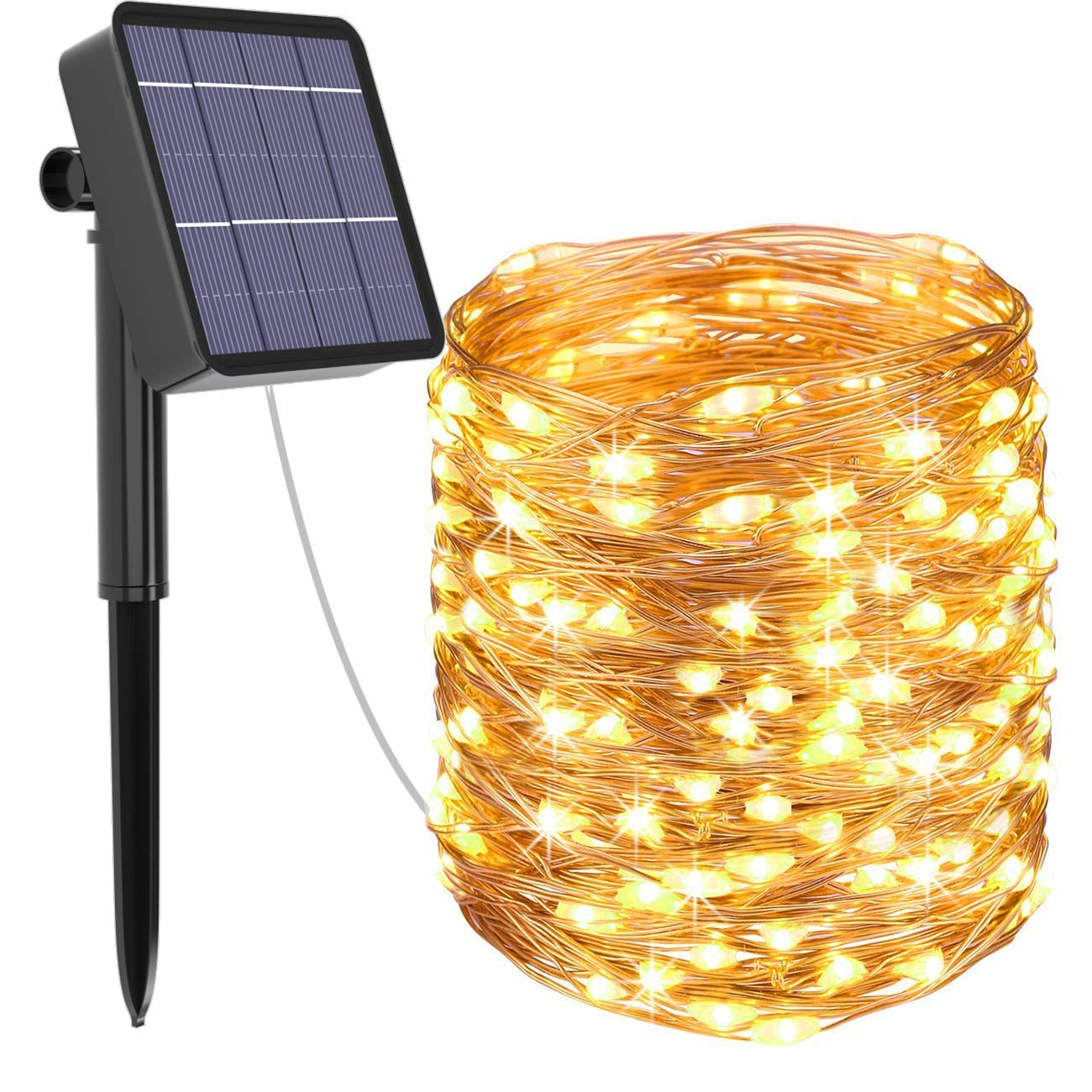 Solar String Lights Outdoor, Kolpop 78.7FT 240LED Solar Fairy Lights Outdoor Waterproof 8 Modes