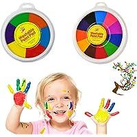 Pintura a dedo para crianças, kit de pintura a dedo desenho de dedo, tintas de água para crianças, tinta lavável para…