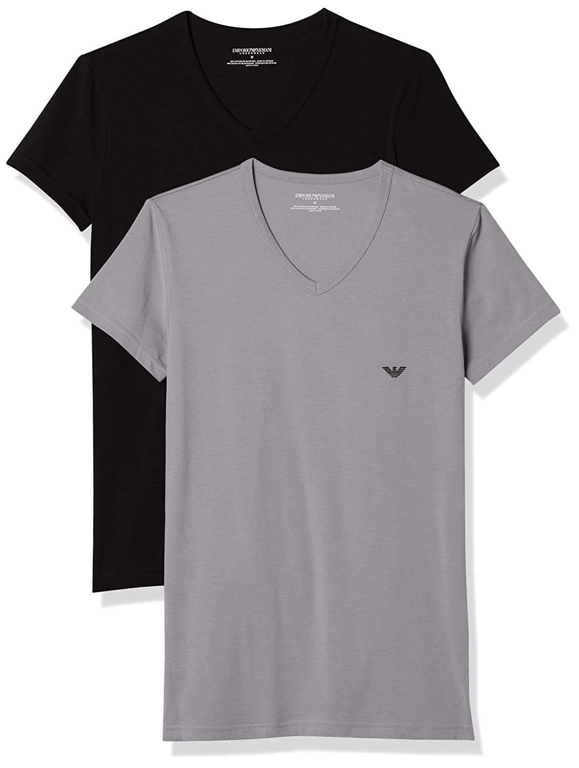 13f5aaccaa Emporio Armani Men's 111512cc717 Short Sleeve T-Shirt,Pack of 2