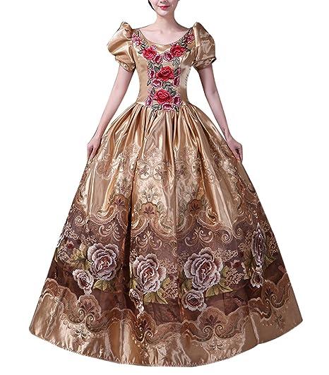 Damen Viktorianisches Kleid mit Krinoline Renaissance ...