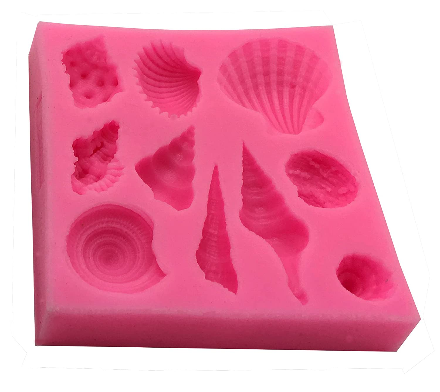 For Making Chocolate and Candy Sea Shells Okallo Products Silicone Seashell Mold MEGA 3 Pack