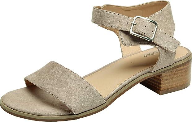 Women's Wide Width Heeled Sandals