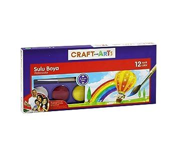 Craft And Arts Sulu Boya 12li Küçük Amazoncomtr