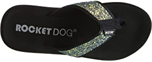 Rocket Dog SPANGLE Ladies Womens Summer Floral Sandals Flip Flops Iridescent