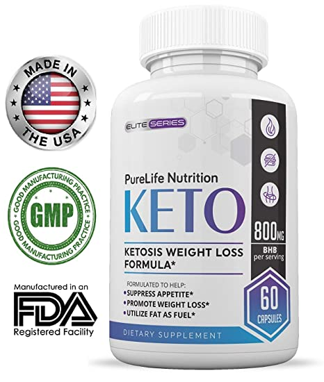 Amazon.com : PureLife Keto Weight Loss Supplement: Fat Burner Pills, Extra Strength, Appetite Suppressant for Women and Men, Ketosis Weight Loss Pills, ...