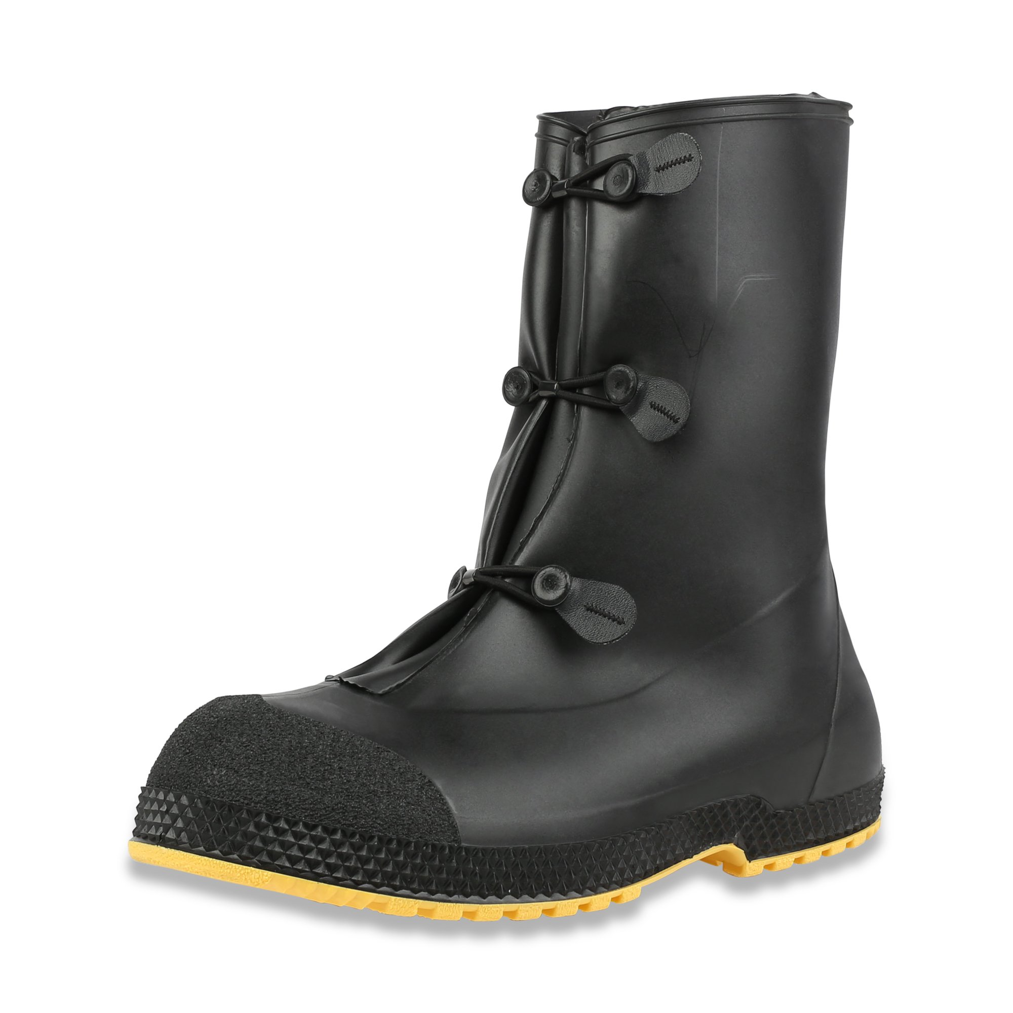 Servus SuperFit 12'' PVC Dual-Compound Men's Overboots, Black & Yellow (11002B-Boxed) by Servus