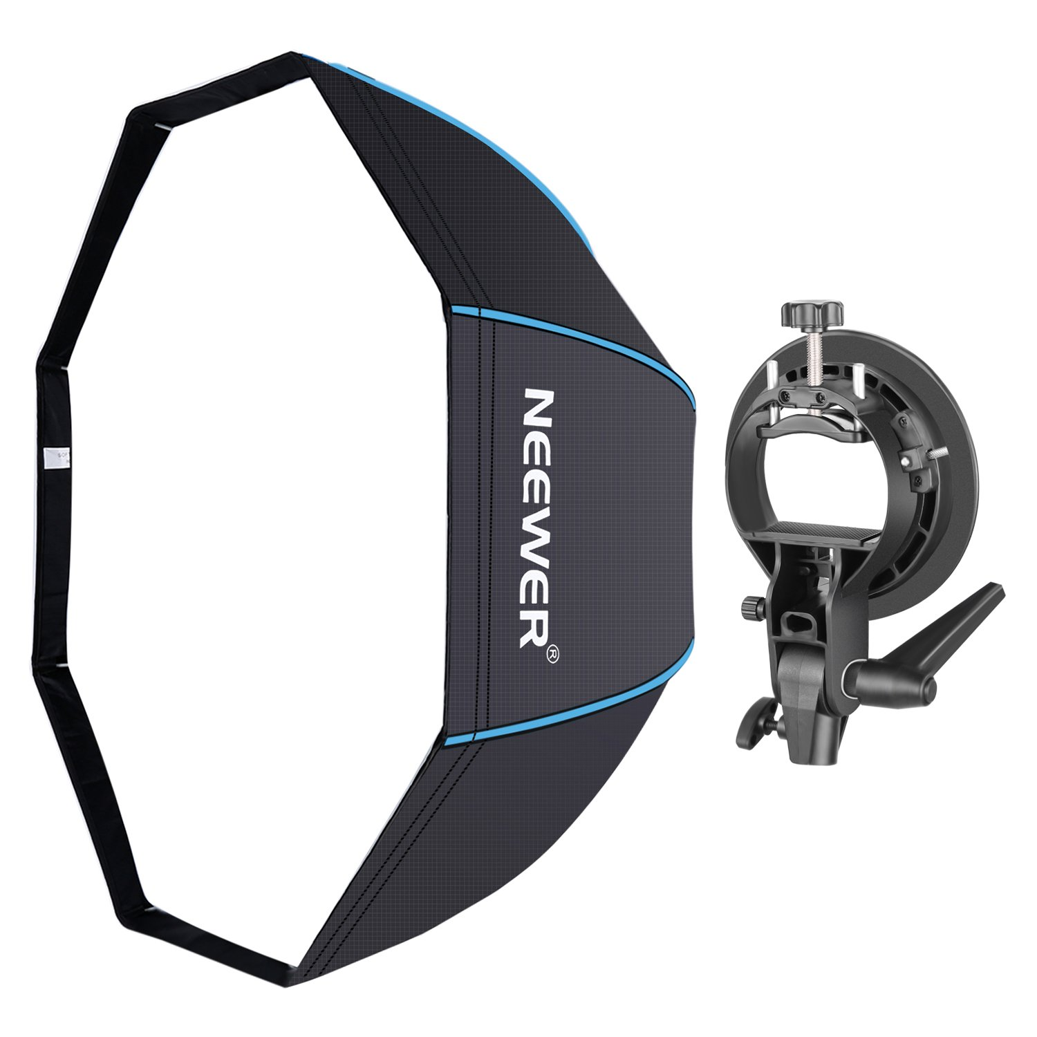 Neewer 48 inches/120 centimeters Octagonal Softbox with S-Type Bracket Holder (with Bowens Mount) and Carrying Bag for Speedlite Studio Flash Monolight, Portrait and Product Photography 90091745