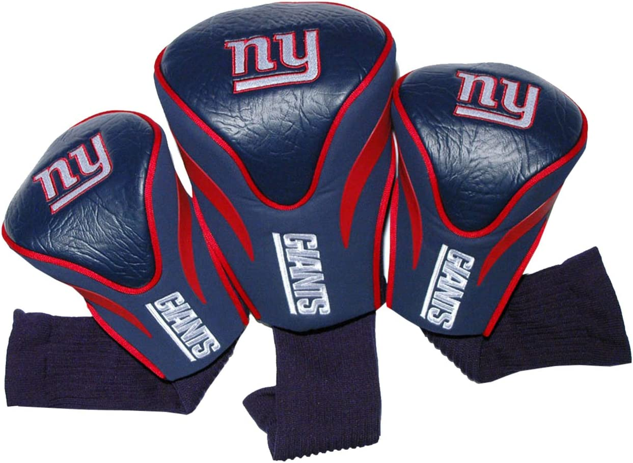 Team Golf NFL New York Giants Contour Golf Club Headcovers (3 Count), Numbered 1, 3, & X, Fits Oversized Drivers, Utility, Rescue & Fairway Clubs, Velour lined for Extra Club Protection : Sports Fan Golf Club Head Covers : Sports & Outdoors