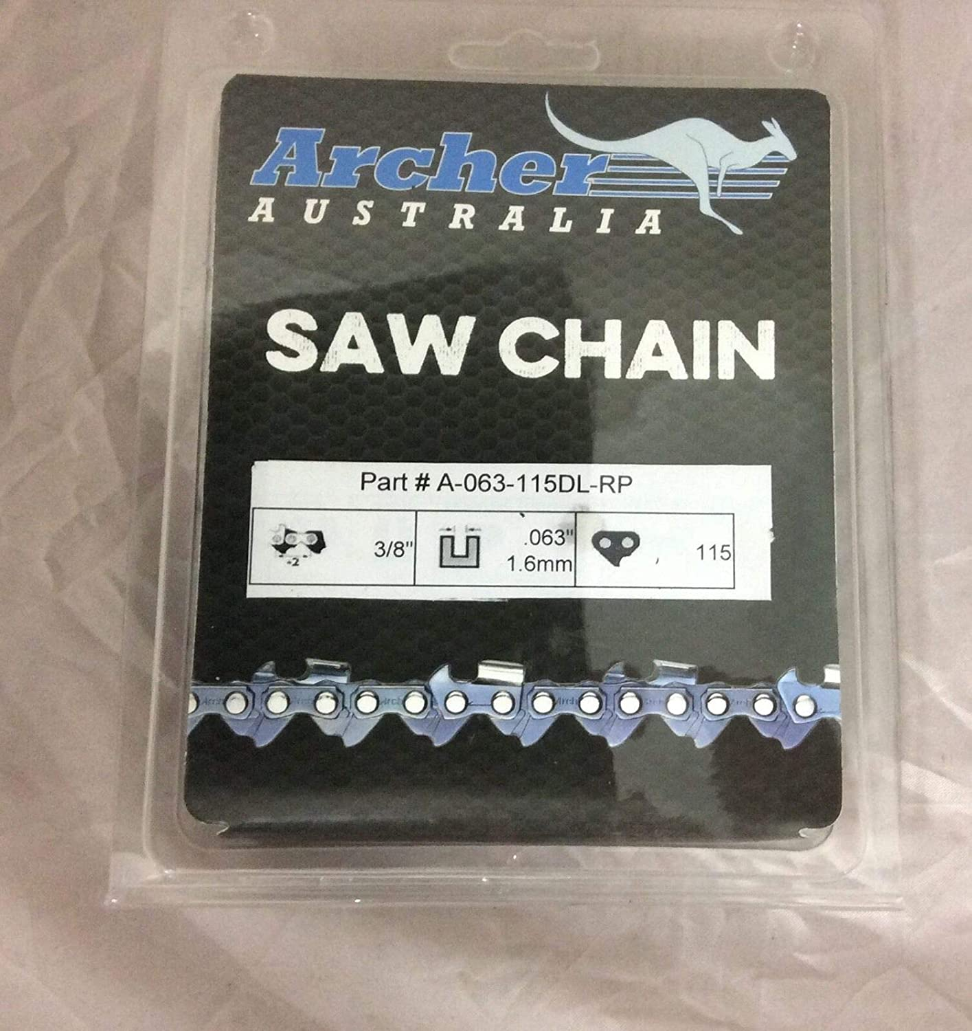 "Husqvarna 36/"" Chainsaw Bar /& 3 Chains 3//8 PITCH .058 GAUGE Chain 115 links"