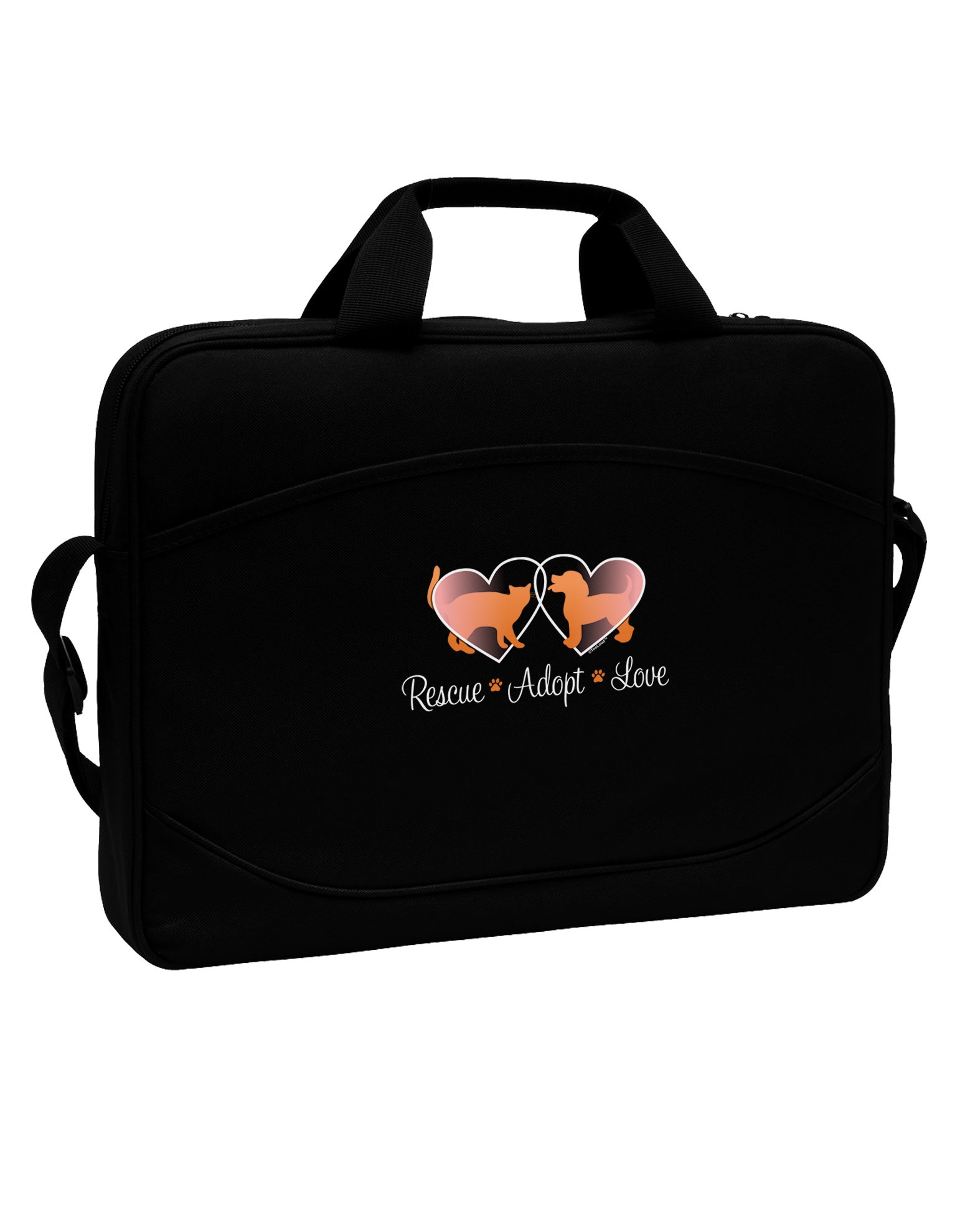 TooLoud Rescue Adopt Love 15'' Dark Laptop/Tablet Case Bag