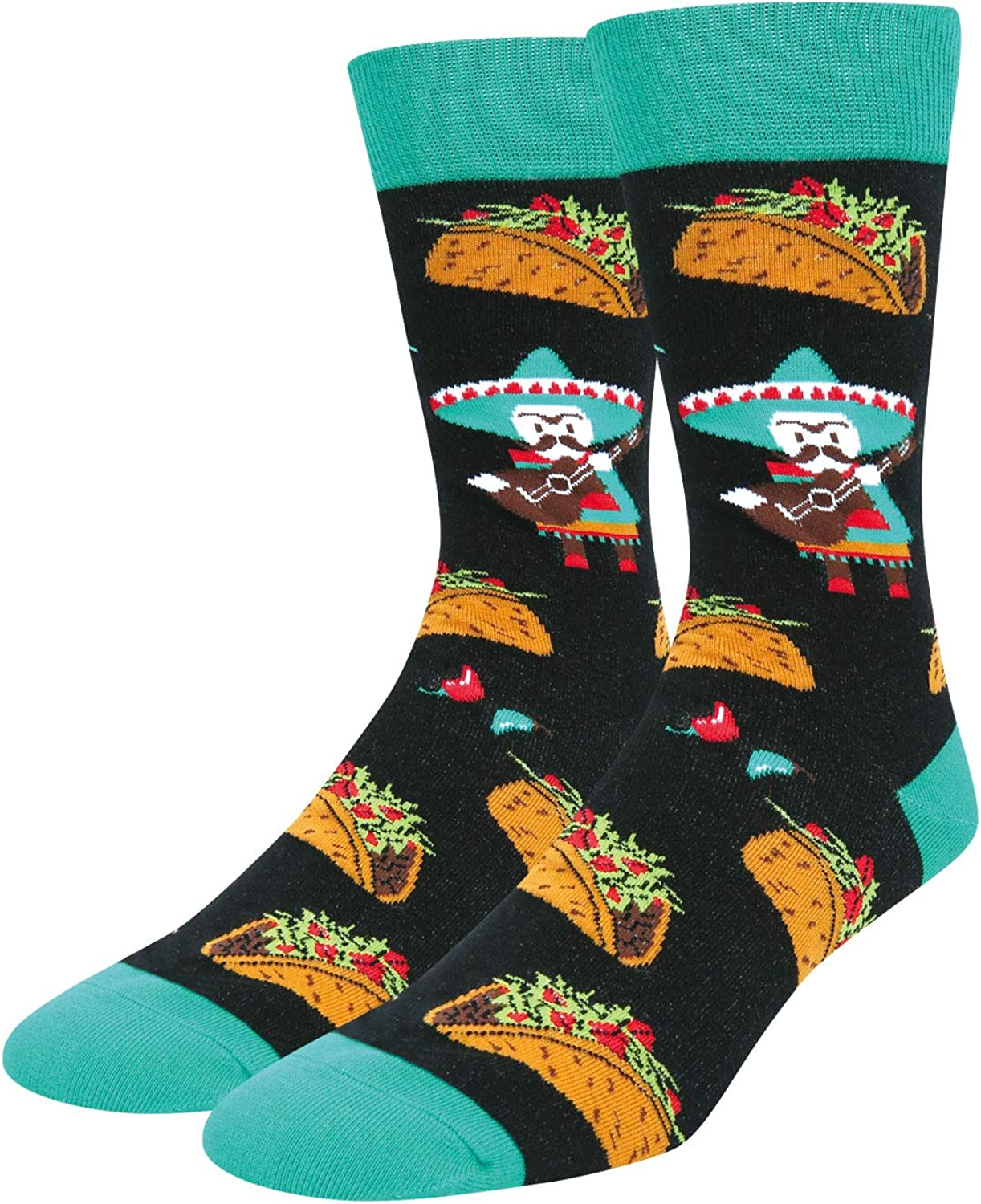 Zmart Men's Funny Food Fruit Socks Crazy Novelty Pineapple Taco Pizza Socks
