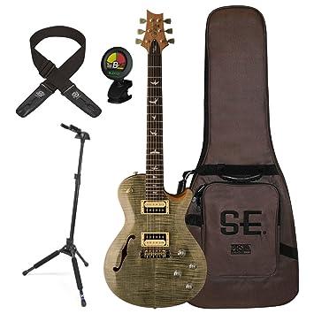 PRS zm3tg Zach Myers guitarra eléctrica trampas verde w/funda, soporte, sintonizador, y Lock-It correa: Amazon.es: Instrumentos musicales
