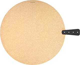 """product image for Epicurean Riveted Handy Series Round Serving/Cutting Board, 17.5"""", Natural/Slate"""