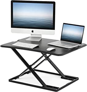 FITUEYES Standing Desk Computer Laptop Table Stand for Working/Eating/Reading/Study | Sit Stand Converter Desk for Home Office SD208001WB