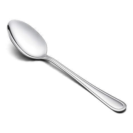 Amazon.com: LIANYU Juego de 12 cucharas de mesa, acero ...