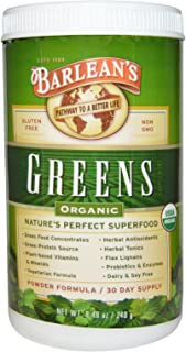 product image for Barlean's Organic Oils - Greens Powder 8.46 oz