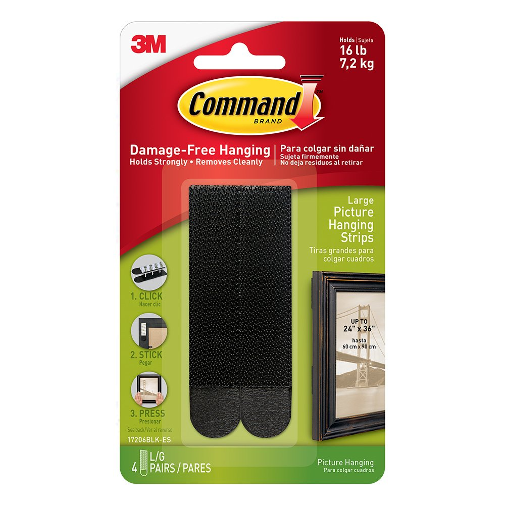 command picture hanging strips large black 4 pairs 17206blk es