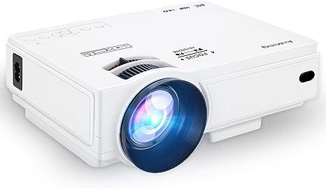 AuKing Mini proyector 2400 lúmenes, proyector de vídeo portátil ...