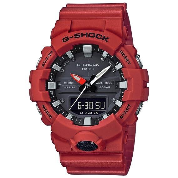 Casio Reloj Analogico-Digital para Hombre de Cuarzo con Correa en Resina GA-800-4AER: Amazon.es: Relojes