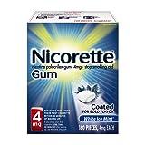 Nicorette Nicotine Gum, Stop Smoking Aid, 4mg,  White Ice Mint Flavor, 160 count