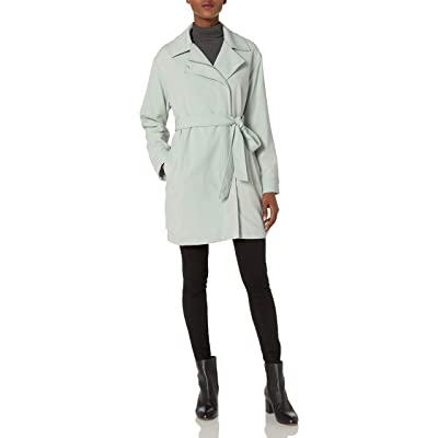 7 For All Mankind Women's Asymmetrical Fashion Drape Trench: Clothing
