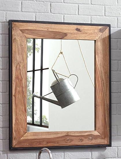 Espejo de pared bocas 82 x 97 x 3 cm Sheesham altmetall ...